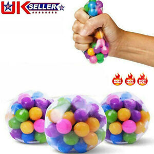 2/5/10PCS Sensory Stress Reliever Ball Toy Autism Squeeze Anxiety Fidget Toys UK