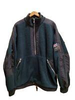 Vtg Greg Norman Made In Usa Green Fleece 1/4 Zip Sz XL