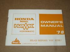 HONDA NOS VINTAGE - OWNERS MANUAL - CB400A - 1978 - 3141700