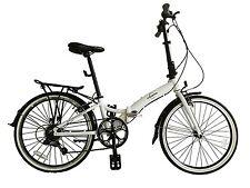 "Ecosmo 24"" Wheel Lightweight Alloy Folding Bicycle Bike 7 SP, 14kg - 24AF02W"