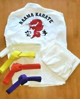 Martial Arts Naama Karate White Uniform Gi Youth Size 3    Halloween Costume?