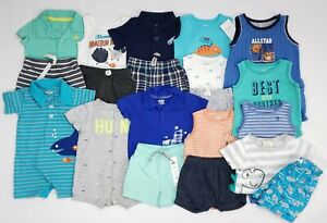Baby Boys 3-6 Months 6 Months Clothes Lot Summer Outfits Shirts Shorts Sets