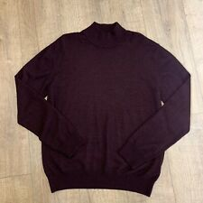 REMUS UOMO Knitted Purple Black Turtle Neck Merino Wool Blend Jumper XXL 2XL