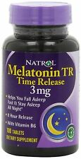 Natrol Melatonin Time Release 3mg Tablets 100ct -Expiration Date 04-2020-