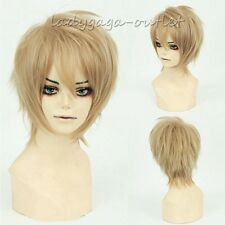 Female Male Wig Cool Short Pixie Straight Anime Cosplay Party Wig Halloween Wlaa