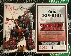 King Spawn #1 2021 NM 1:250 Variant signed & numbered by Todd McFarlane with COA