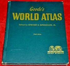 Rand McNally Goode's World Atlas 9th Ninth Edition Vintage HC (1953, Hardcover)