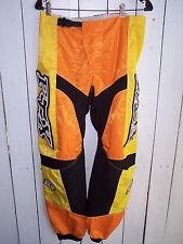 "Fox 360° Racing Pants Size 33 by 31"" Inseam Motocross Orange/Yellow/Black Nylon"