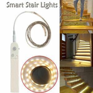 UK Battery Operated LED Strip Lights Wireless PIR Motion Sensor Wall Closet Lamp