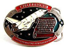 Challenger Jan 28 1986 Commemorating Heroes Belt Buckle 12022013