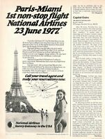 1977 Original Advertising' Vintage National Airlines Company Aerial Miami USA