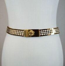 Vintage Gold Tone Metal Snake/Fish Scale Retro Womens Fashion Belt Stretch Mod