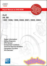 AUDI A8 S8 SHOP MANUAL SERVICE REPAIR BENTLEY QUATTRO A8L ROBERT 1997 2003