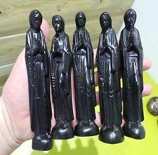 lot Revendeur 5 vierge en Bois d ebene 145mm sculptee main madagascar