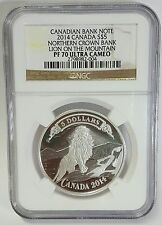 2014 Canada  $5 Northern Crown Bank Lion on the Mountain PF 70 Ultra Cameo