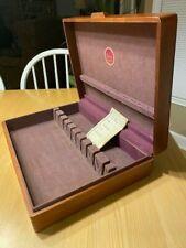 Naken's Wood Silverware Chest Flatware Box Tarnish Proof Vintage Storage