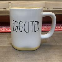 Rae Dunn By Magenta - LL EGGCITED - Yellow Ceramic Coffee Mug - Easter 🐣Spring