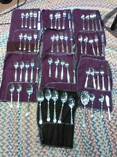 57 pcs wm rogers Golden Centennical Silverplate Flatware Serv 9 + Serving Pcs.LN