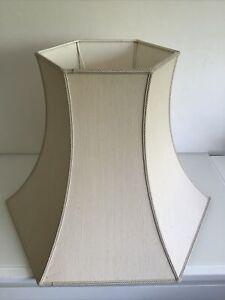 Large  Vintage Floor Lamp Shade Cream Linen Look