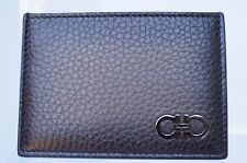 New Salvatore Ferragamo Credit Card Case Men's Wallet Gancio CC Holder Sale Gift