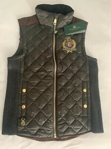 Holland Cooper Equi Diamond Quilt Gilet (KHAKI) - Medium