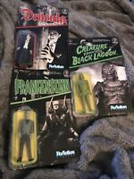 Frankenstein, Dracula, creature from lagoon funko ReAction Universal Monsters