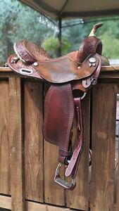 "Circle Y Martha Josey Barrel Saddle 15"" Western Round Skirt"