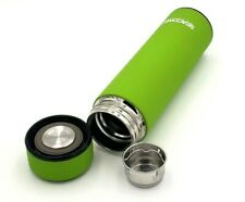 Green Double Wall Insulated Stainless Steel Coffee, Tea, Water Bottle w/infuser