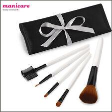 5 MakeUp Brush Kit Manicare Cosmetic Foundation Blusher Powder Eyebrow Lip Set