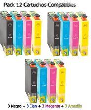 12 XL tinta cartuchos para Epson xp33 xp225 xp313 xp322 xp325 xp413 xp422 xp425