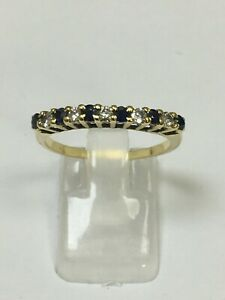 Lovely 18 Carat Yellow Gold SAPPHIRE & DIAMOND ETERNITY Ring