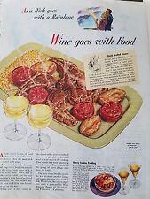 1945 Sherry Wine Sherry Sundae Pudding Wine Goes With Food Ad