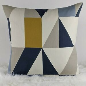 "SCION ""Nuevo"" Fabric Indigo Cushion Cover, Reversible  Geometrical"