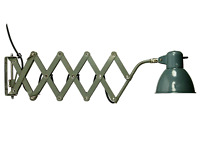 SIS Scheren Leuchte Wand Arbeits Lampe Vintage Bauhaus Industrial Design 50er