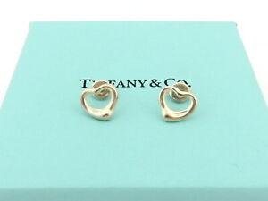 TIFFANY & CO Sterling Silver Open Heart Earrings