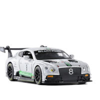 Bentley Continental GT3 Racing Car 1/32 Model Car Diecast Gift Toy Kids Grey