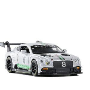 1/32 Bentley Continental GT3 Racing Car Model Car Diecast Toy Vehicle Sound Gray