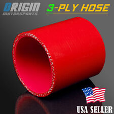 3″ Inch 76mm STRAIGHT COUPLER SILICONE HOSE TURBO INTAKE INTERCOOLER PIPE RED