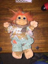 Scarecrow Troll - 90 S by Russ Orange Hair Patchs Plush Hard Head