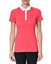 Nike Women's Short Sleeve Polo Pink/White Large Size 14 BNWT