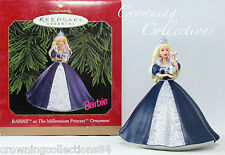 1999 Hallmark Barbie as the Millennium Princess Keepsake Ornament Celebration