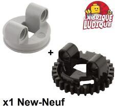 Lego technic 1x tourelle Turnable Small gear Bottom 99009 + top 99010 NEUF