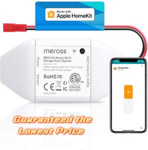 HomeKit Smart Garage Door Opener, Support Apple Carplay, Alexa, Google Voice