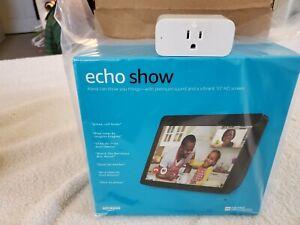 New! Amazon Echo Show (2nd Gen) Smart Assistant -Charcoal w/Amazon Smart Plug