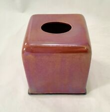 JOSEPH ABBOUD Environments Lag 58 Red Iridescent Ceramic Tissue Holder