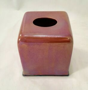 JOSEPH ABBOUD Environments Lag 58 Red Iridescent Ceramic Tissue Holder