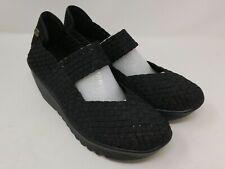 Bernie Mev Women's Black Metallic Lulia Wedge Shoes Size 40 EU