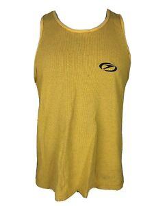 Vintage Speedo Mens XL Yellow Sleeveless Tank Top Shirt Made in USA C27