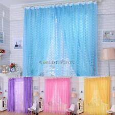 Rose Tulle Door Balcony Curtain Panel Sheer Scarfs Window Screens for Room #W