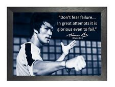 Bruce Lee 52 Hong Kong American Actor Film Director Martial Arts Quote Poster